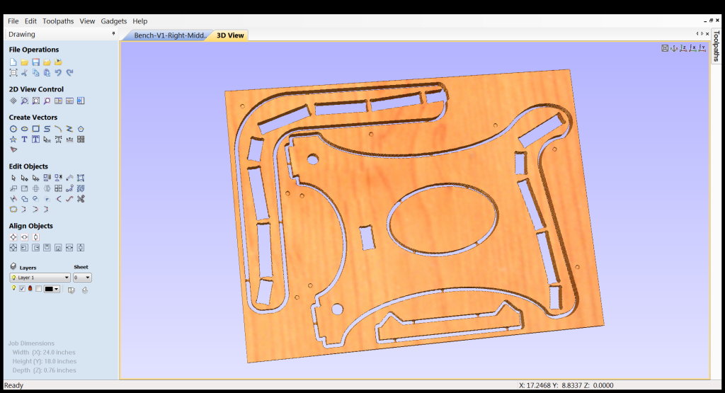 3D view of final CAD/CAM Design