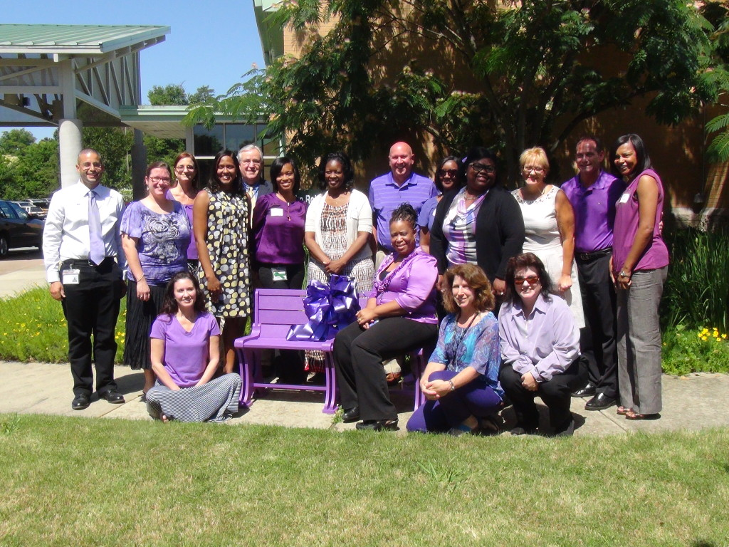 Dedication of the Elder Abuse Awareness Bench at the Kernodle Senior Center in Burlington